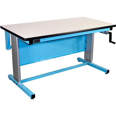 Pro-Line 72 X 30 EL7230PL-L14 Ergoline Hand Crank Height Adjustable Workbench Plastic Laminate Top