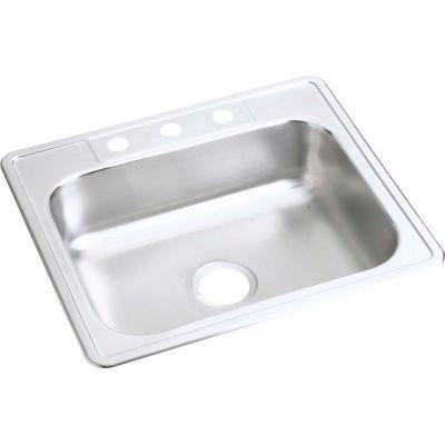 Dayton® DSE125223 Elite Stainless Steel Single Bowl Top Mount Sink