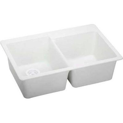 "Elkay® ELG2522WH0, Gourmet E-Granite Sink, 25""L X 22""W X 9-1/2""D"