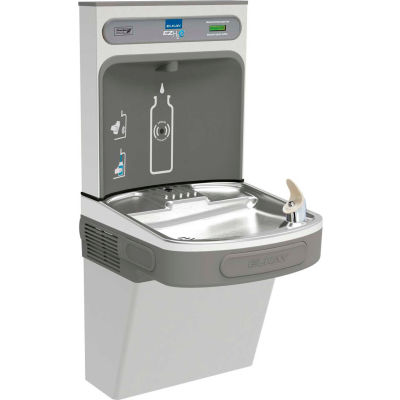 Elkay EZSDWSSK EZH20 Water Bottle Refilling Station, Single, Non Refrigerated, Stainless Steel