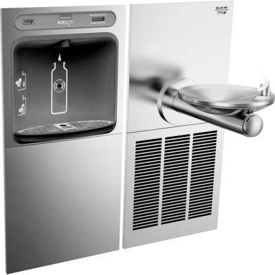 Elkay EZWS-SFGRN8K EZH2O Water Bottle Refilling Station W/SwirlFlo Green Single Cooler, Refrig, SS