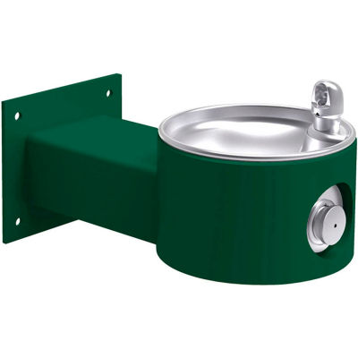 Elkay Outdoor Fountain Wall Mount, Non-Filtered Non-Refrigerated, Evergreen
