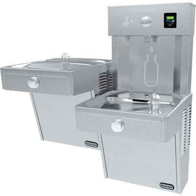 Elkay LVRCTLDDWSK EZH2O Water Bottle Refilling Station, Bi-Level VR Fountain, Non Refrig,Filtered,SS