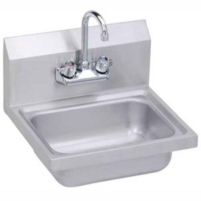 Elkay® SEHS-17X Wall Hand Sink w/ Gooseneck Faucet & Basket Strainer, 17x15-in