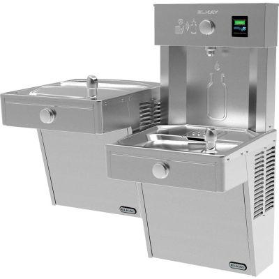 Elkay VRCTLRDDWSK Vandal-Resistant EZH2O Water Bottle Refilling Station, Bi-Level, Non Refrig, SS