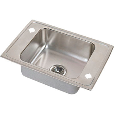 Elkay® PSDKR25172LM Celebrity Stainless Steel Single Bowl Drop-in Classroom Sink