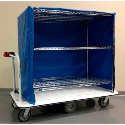 "Electro Kinetic Technologies Motorized Linen Cart MCSC-1772-246015-60 - 1500 Lb. Cap. - 60""x24""x60"""
