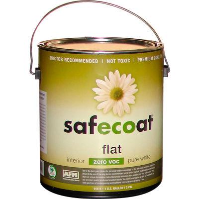 AFM Safecoat Flat Paint Pastel Base 0 VOC, White 32 Oz. Can 1/Case - 14211