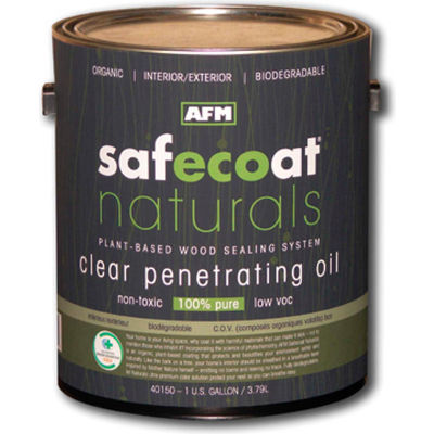 AFM Safecoat Naturals Penetrating Oil, Clear Gallon Can 1/Case - 40150