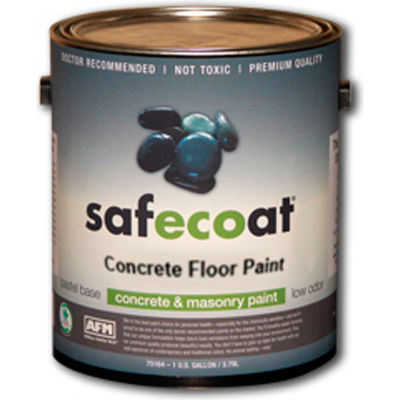 AFM Safecoat Concrete Floor Paint Pastel Base, White Gallon Can 1/Case - 75114
