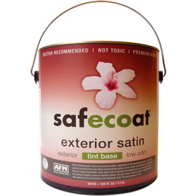 AFM Safecoat All Purpose Exterior Satin, White 32 Oz. Can 1/Case - 90205