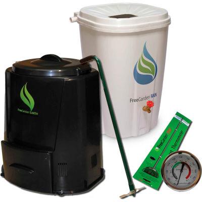 Enviro World EARTH Package - Rain Barrel, Compost Bin, Thermometer, and Turner -EWC-201