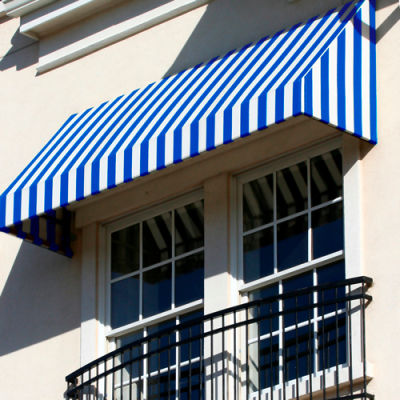 Awntech EN1836-3BBW, Window/Entry Awning 3-3/8'W x 1-1/2'H x 3'D Bright Blue/White