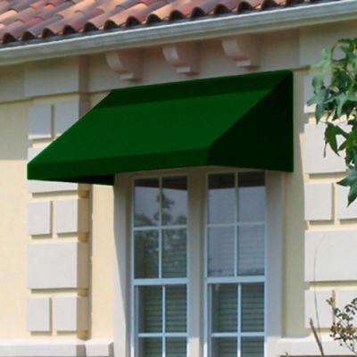 """Awntech EN1836-8F, Window/Entry Awning 8' 4-1/2""""W x 3'D x 1' 6""""H Forest Green"""