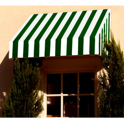 "Awntech EN23-8FW, Window/Entry Awning 8' 4-1/2"" W x 3'D x 2'H Forest Green/White"
