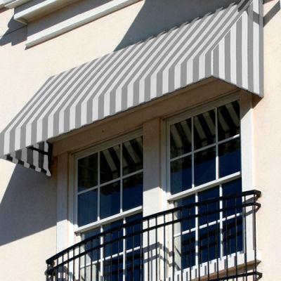"""Awntech EN1030-6GW, Window/Entry Awning 6' 4-1/2""""W x 2' 6""""D x 1' 4""""H Gray/White"""