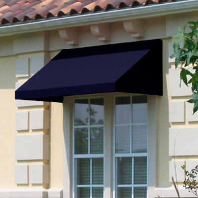 "Awntech EN24-4N, Window/Entry Awning 4' 4-1/2""W x 4'D x 2' 7""H Navy"