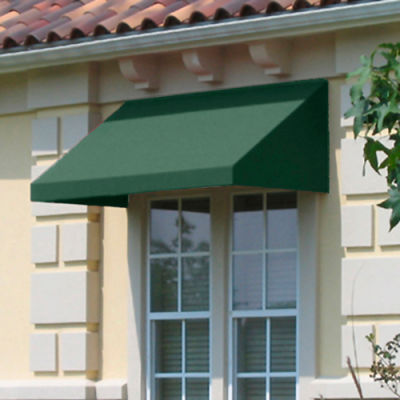"Awntech EN2442-8S, Window/Entry Awning 8' 4-1/2"" W x 3' 6""D x 2'H Sage"