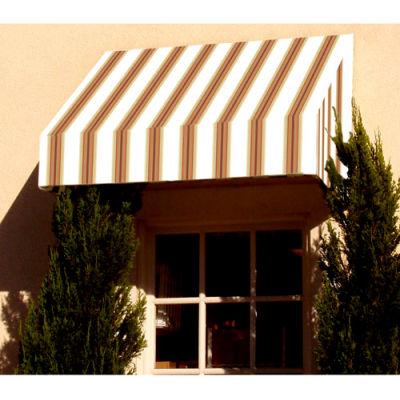 Awntech EN1836-3WLTER, Window/Entry Awning 3-3/8'W x 1-1/2'H x 3'D White/Linen/Terra Cotta