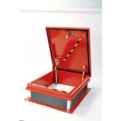 Elmdor Roof Hatch  with Fesco, 30x36 - Red