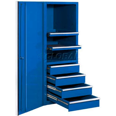 """Extreme Tools 24"""" Professional Side Cabinet in Blue"""