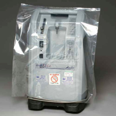 """Blue Tint Bags and Covers on Roll, 1 mil, 28"""" x 22"""" x 56"""", Pkg Qty 50"""