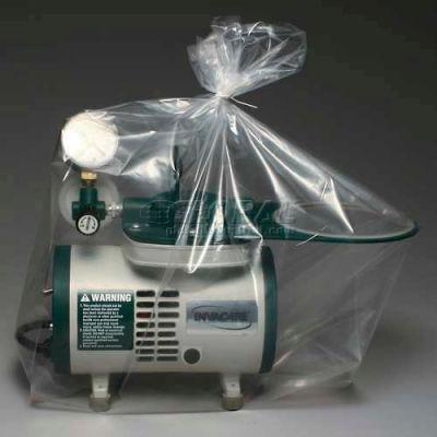 """Blue Tint Bags and Covers on Roll, 1.25 mil, 12"""" x 8"""" x 30"""", Pkg Qty 150"""