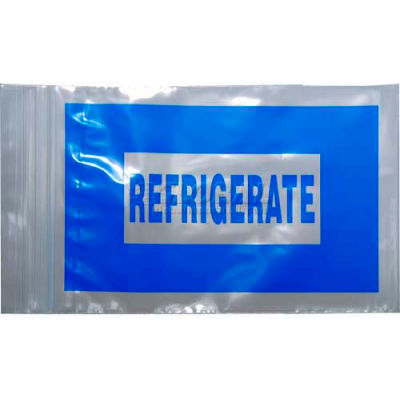 """2 Mil Reclosable Seal Top Refrigerate Bags, 6""""L x 4""""W, Blue, Pack of 1000"""