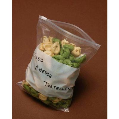 "Polyethylene Slide Seal Bag with Write-on Block, 3 mil, 6"" x 9"", Pkg Qty 250"