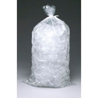 """1.2 Mil Metallocene Ice Bags, 18""""L x 9""""W, 5 Lbs Capacity, Clear, Pack of 1000"""