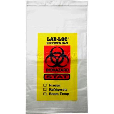 "Clear Adhesive Closure Tamper Evident 3-Wall Specimen Transfer Bag, 2 mil, 15"" x 17"", Pkg Qty 500"