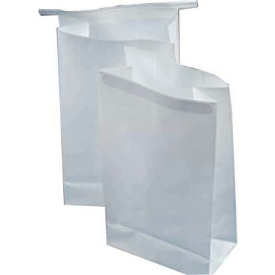 """3 Mil Air Sickness Bags With Wire Tie Closure, 8-1/2""""L x 4-1/2""""W x 2-1/2""""D, White, Pack of 1000"""
