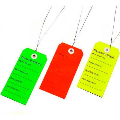 """Multipack Equipment Tags (Clean, Dirty, Repair), 2-5/16"""" x 4-3/4"""", Pkg Qty 750"""
