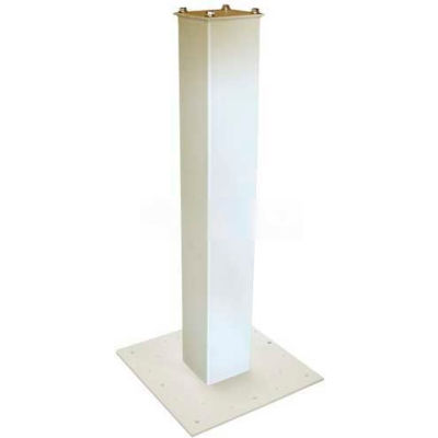 """Surface Mount Post 27-1/2""""H and Base Plate Package White"""