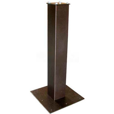 """Surface Mount Post 27-1/2""""H and Base Plate Package Bronze"""