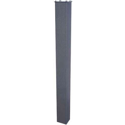 """In-Ground Steel Mounting Post 43""""H Granite"""