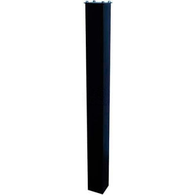 """In-Ground Steel Mounting Post 43""""H Black"""