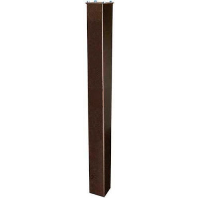 """In-Ground Steel Mounting Post 43""""H Bronze"""