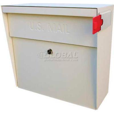 Metro Wall Mount Mail Boss Locking Mailbox White