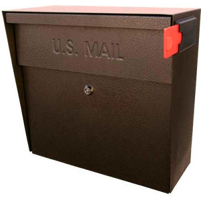 Metro Wall Mount Mail Boss Locking Mailbox Bronze