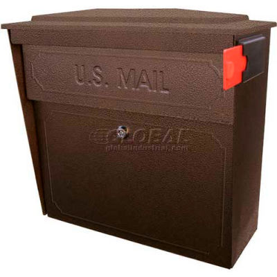 Townhouse Wall Mount Mail Boss Locking Mailbox Bronze