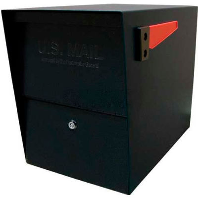 Mail Boss Package Master Commercial Locking Mailbox Black