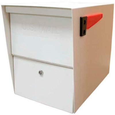 Mail Boss Package Master Commercial Locking Mailbox White
