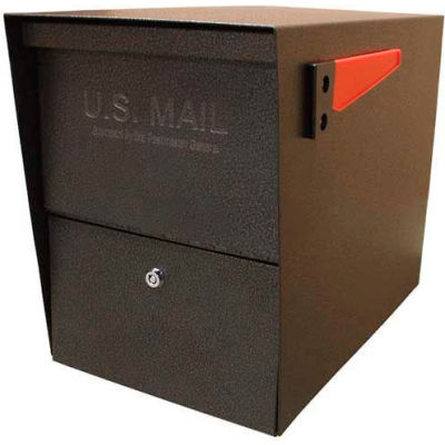 Mail Boss Package Master Commercial Locking Mailbox Bronze