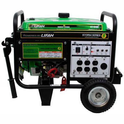 Lifan Power USA ES4100E-CA, 3500 Watts, Portable Generator, Gasoline, Electric/Recoil Start, 120V