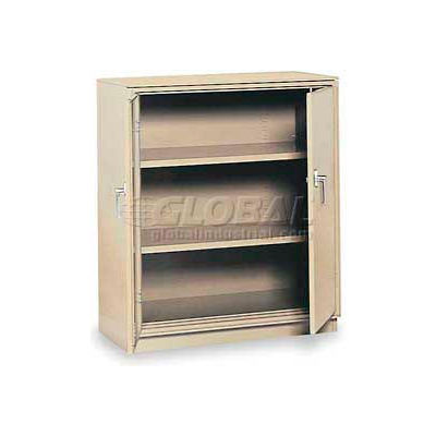 """Equipto Counter High Cabinet, 36""""W x 18""""D x 42""""H, Textured Putty"""