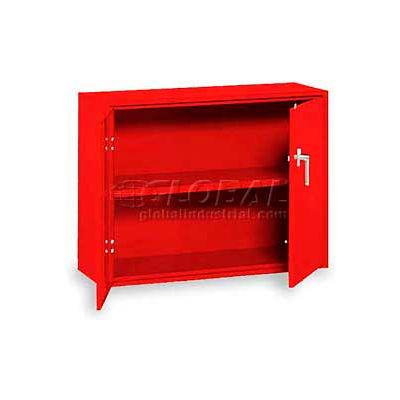 "Equipto Desk High Cabinet, 36""W x 18""D x 29""H, Textured Cherry Red"