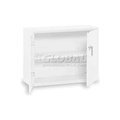 """Equipto Desk High Cabinet, 36""""W x 18""""D x 29""""H, Smooth Reflective White"""