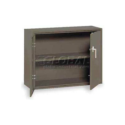 "Equipto Handy Cabinet w/Lower Handle Placement, 36""W x 13""D x 27""H, Textured Evergreen"