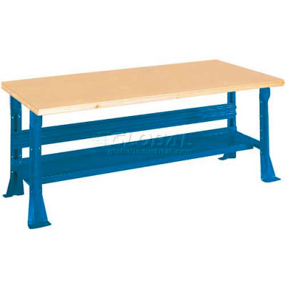 "Equipto C-Channel Fixed Height Workbench - Shop Top Square Edge 60""W x 30""D x 31-1/4""H Blue"